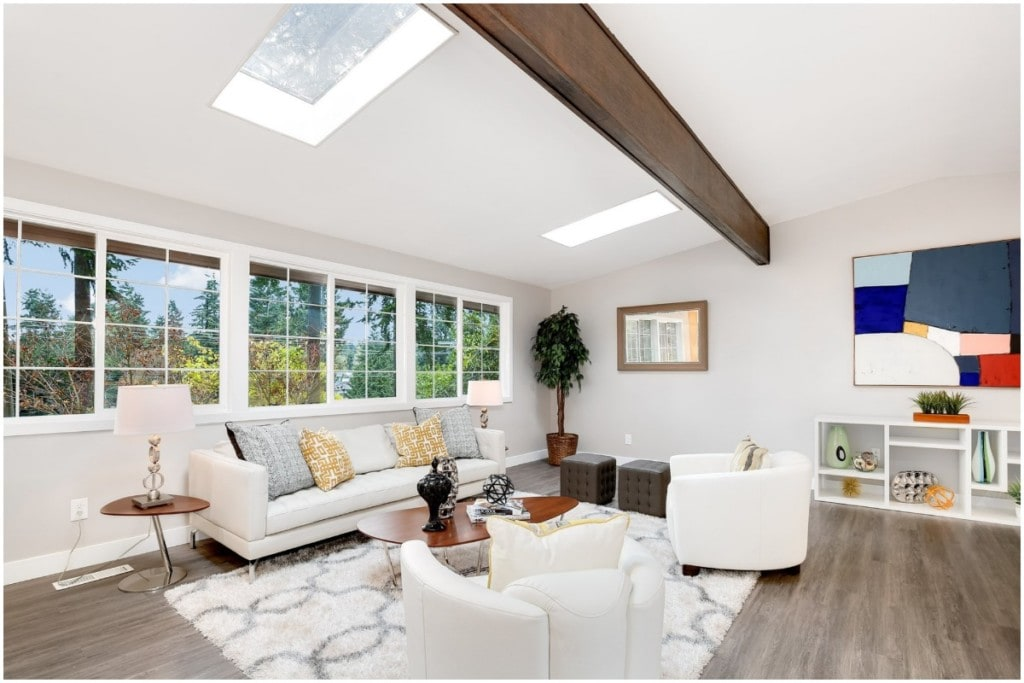 skylights in living room