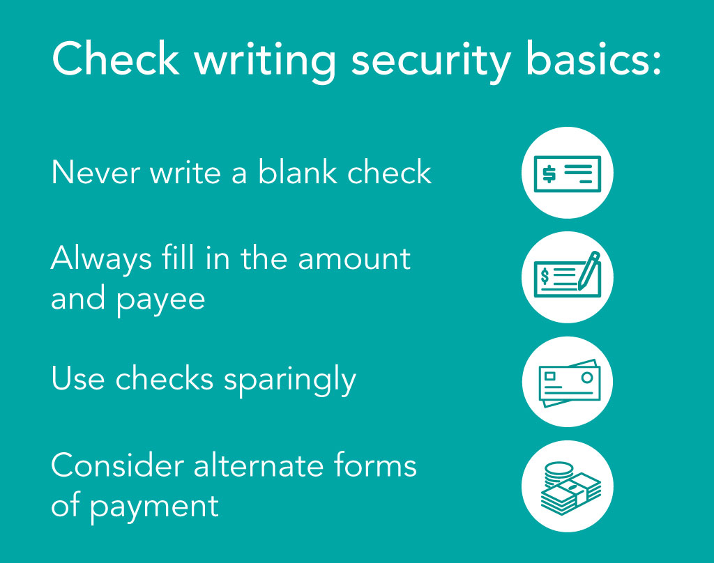 Check writing security basics