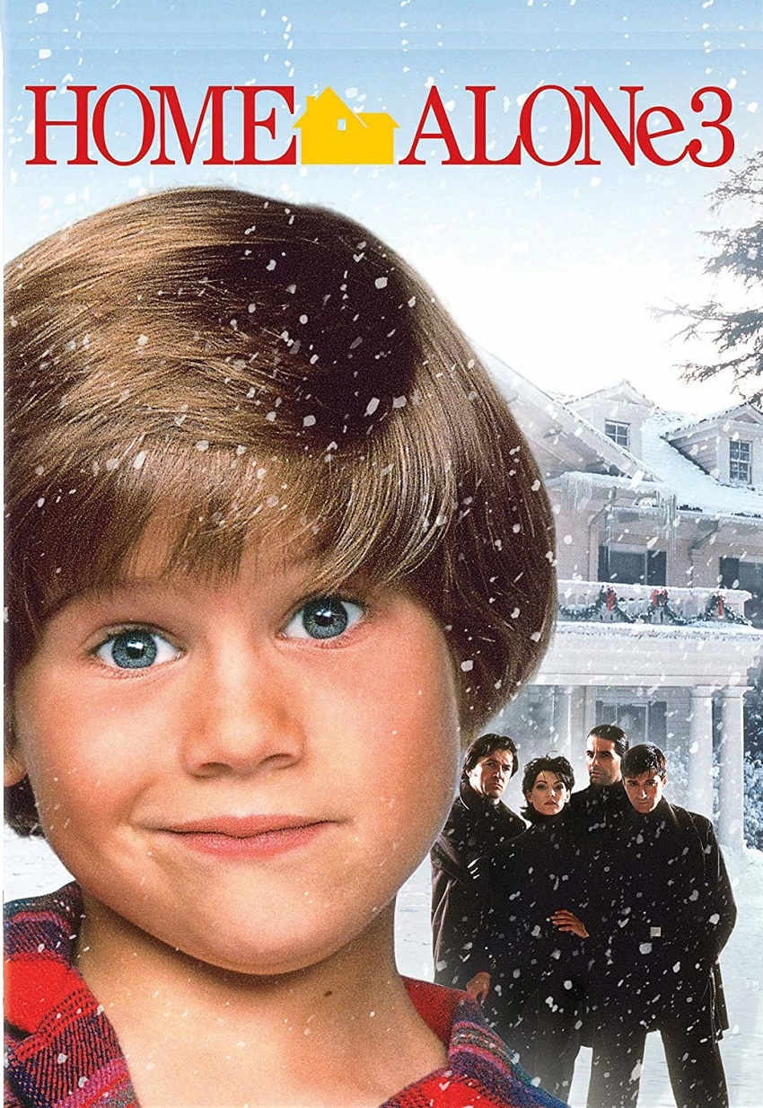 The poster for Home Alone 3, featuring the house in the background.